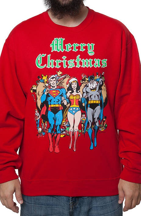 Dc Comics Faux Ugly Christmas Sweater Popcult Wear