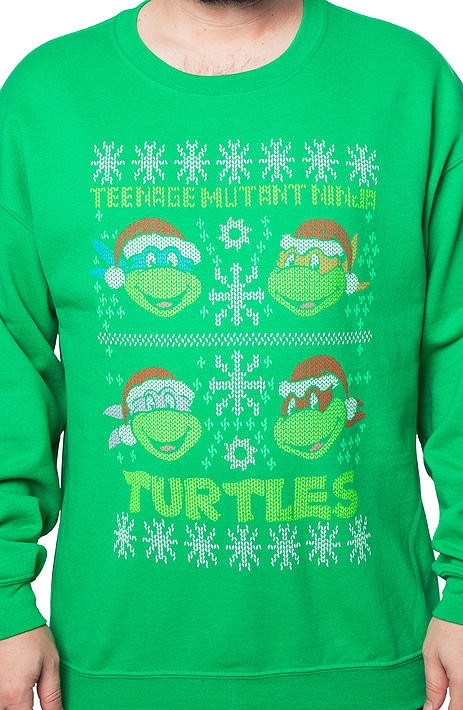 Teenage Mutant Ninja Turtles Faux Ugly Christmas Sweater Popcult Wear