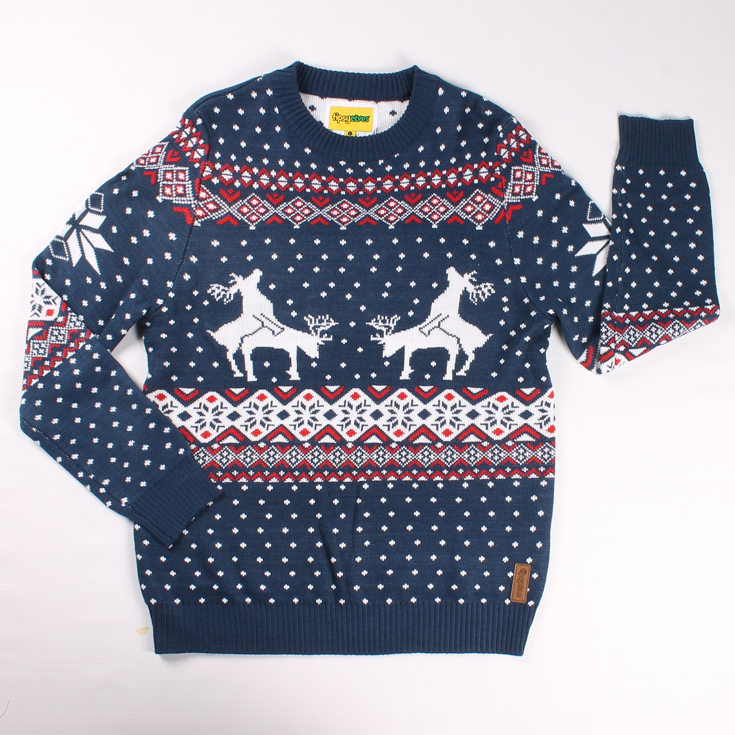 Reindeer Climax Christmas Sweater - PopCult Wear