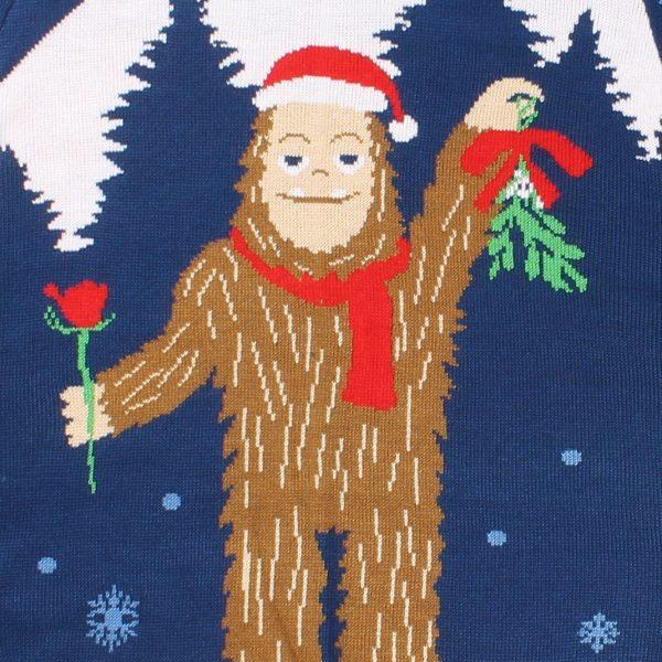 Romantic Sasquatch Christmas Sweater - PopCult Wear