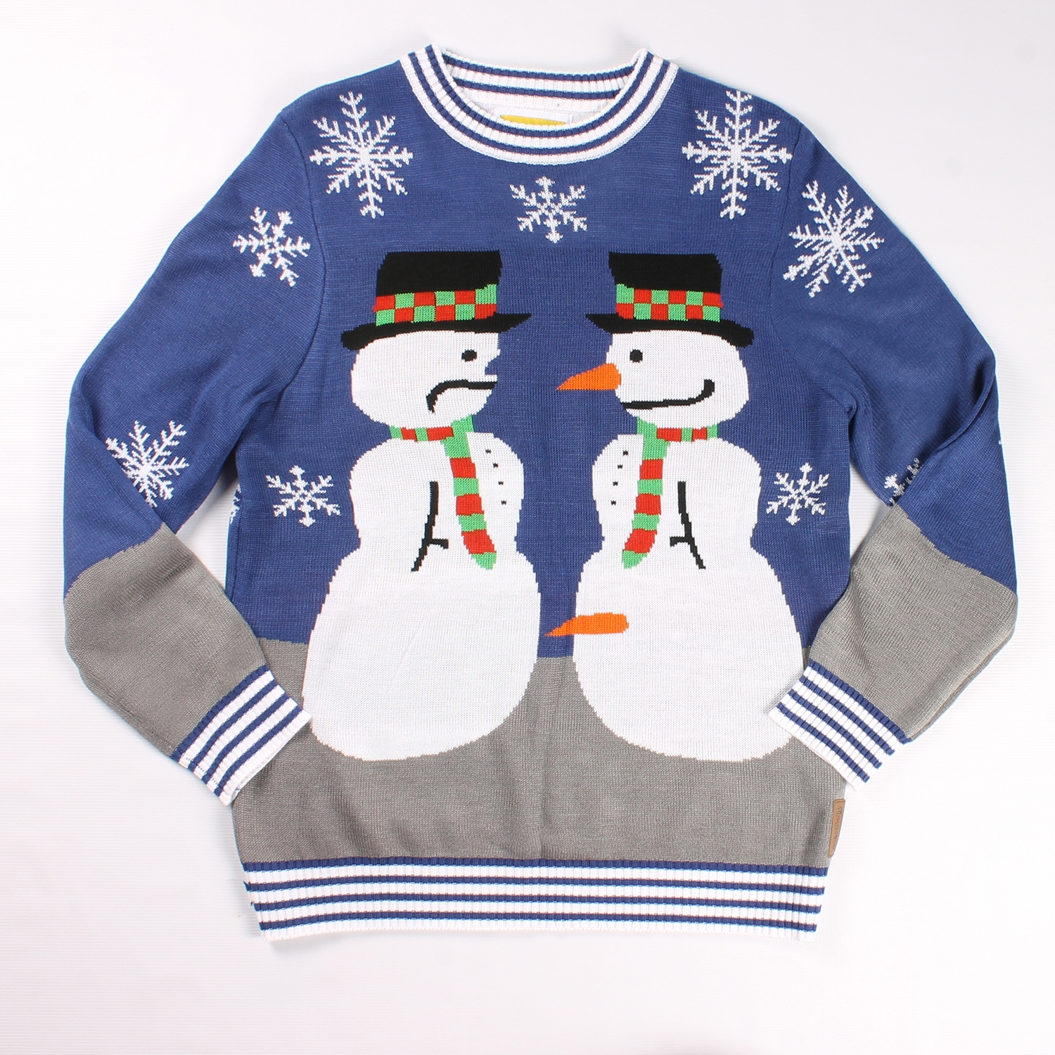 Snowman Nose Thief Christmas Sweater - PopCult Wear
