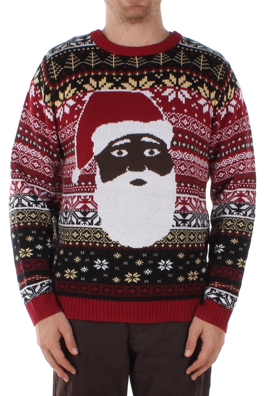 Black Santa - The Night Before - Christmas Sweater - PopCult Wear