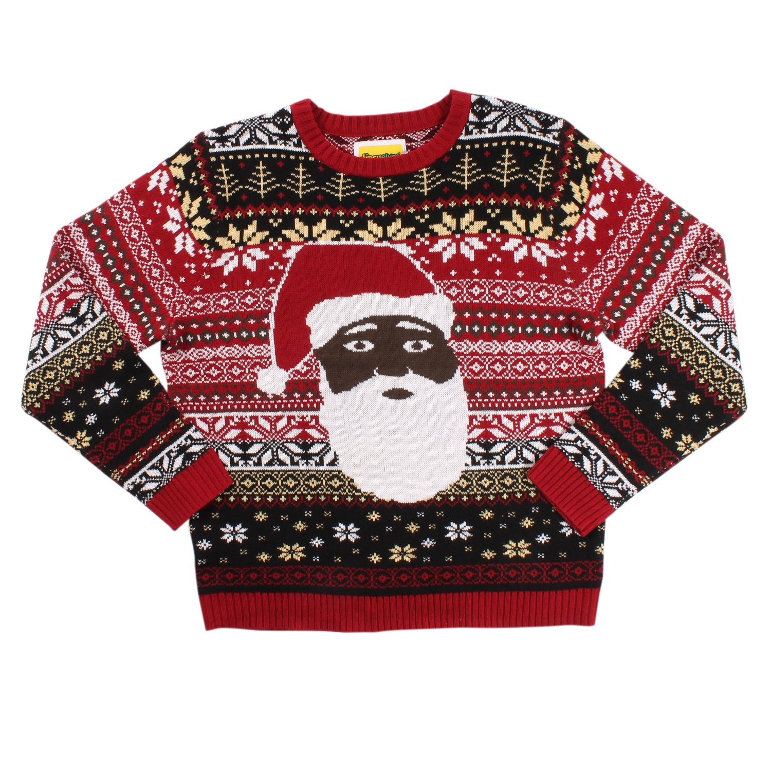 Black Santa - The Night Before - Christmas Sweater - PopCult Wear