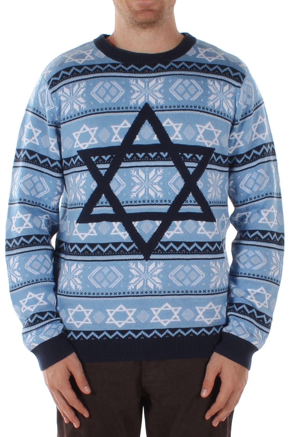 Star of David - The Night Before - Hanukkah Sweater - PopCult Wear