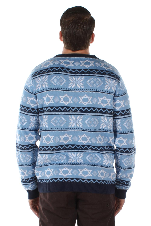 Star of David - The Night Before - Hanukkah Sweater - PopCult Wear