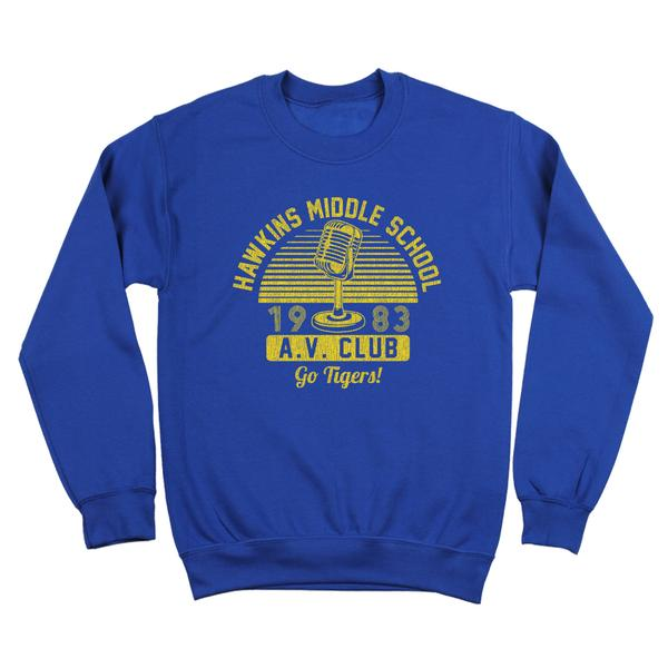 Stranger Things Hawkins Middle School Av Club Sweatshirt Popcult