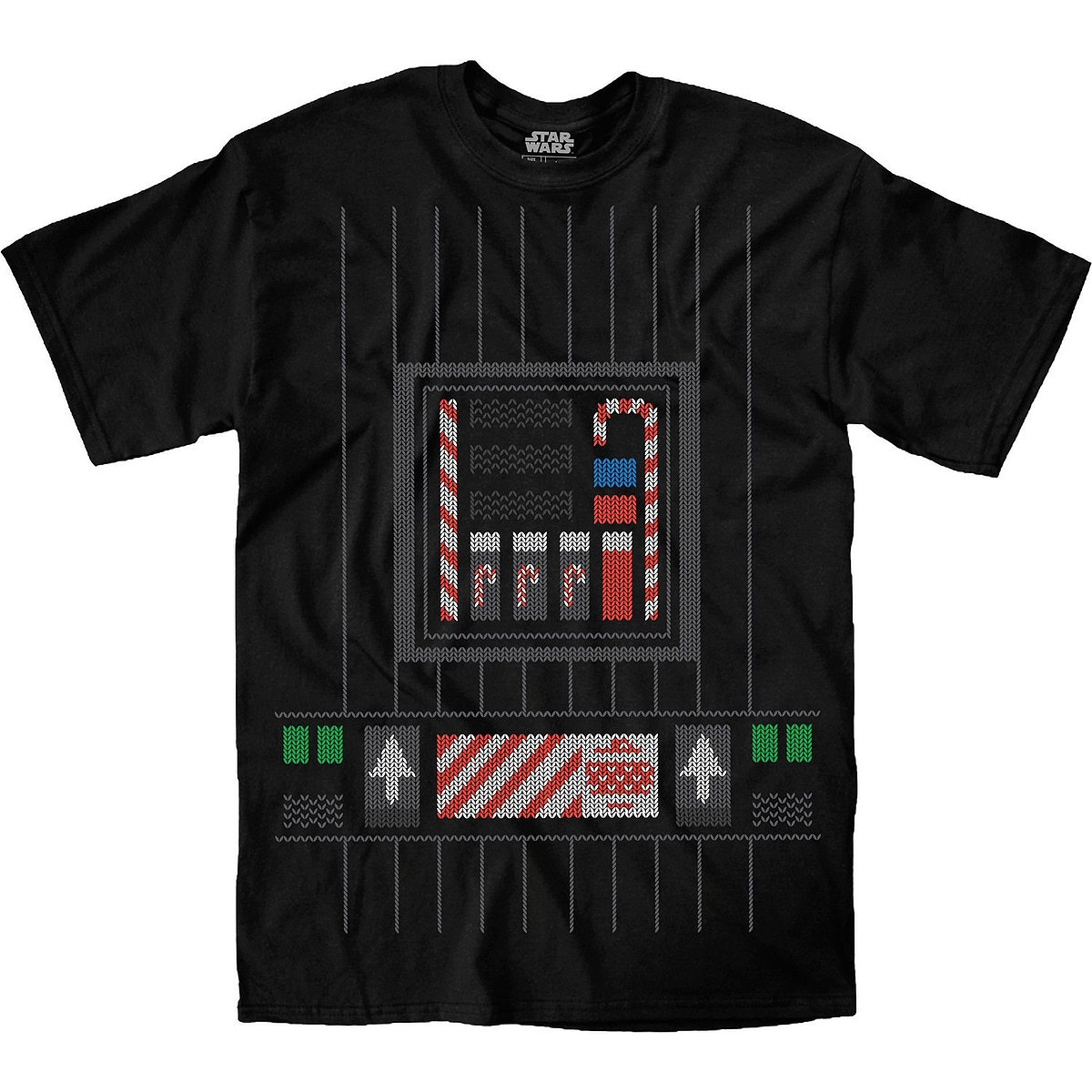 Darth Vader Faux Ugly Christmas Sweater - Star Wars - T-Shirt ...