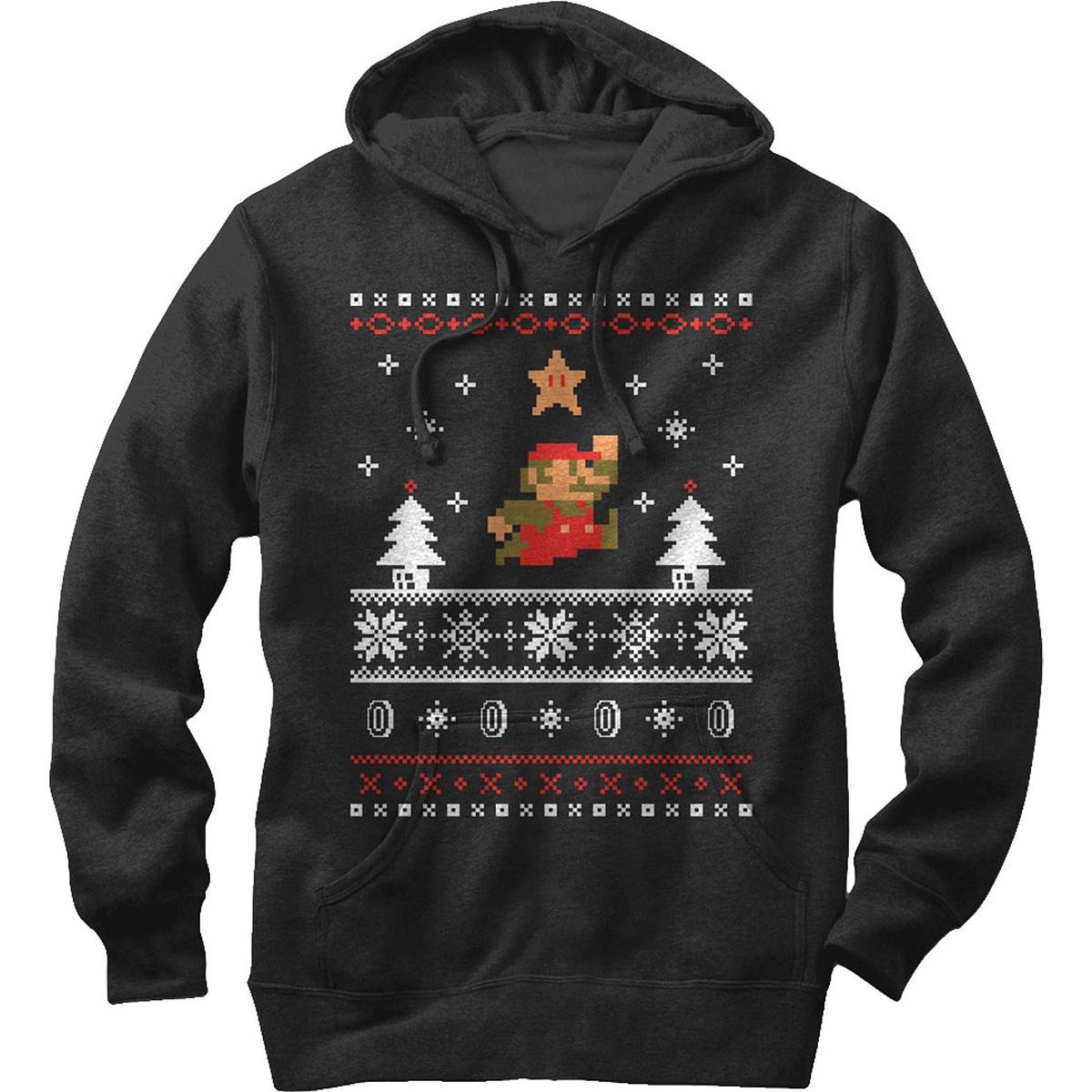 Nintendo Super Mario Faux Christmas Sweater - Hoodie - PopCult Wear
