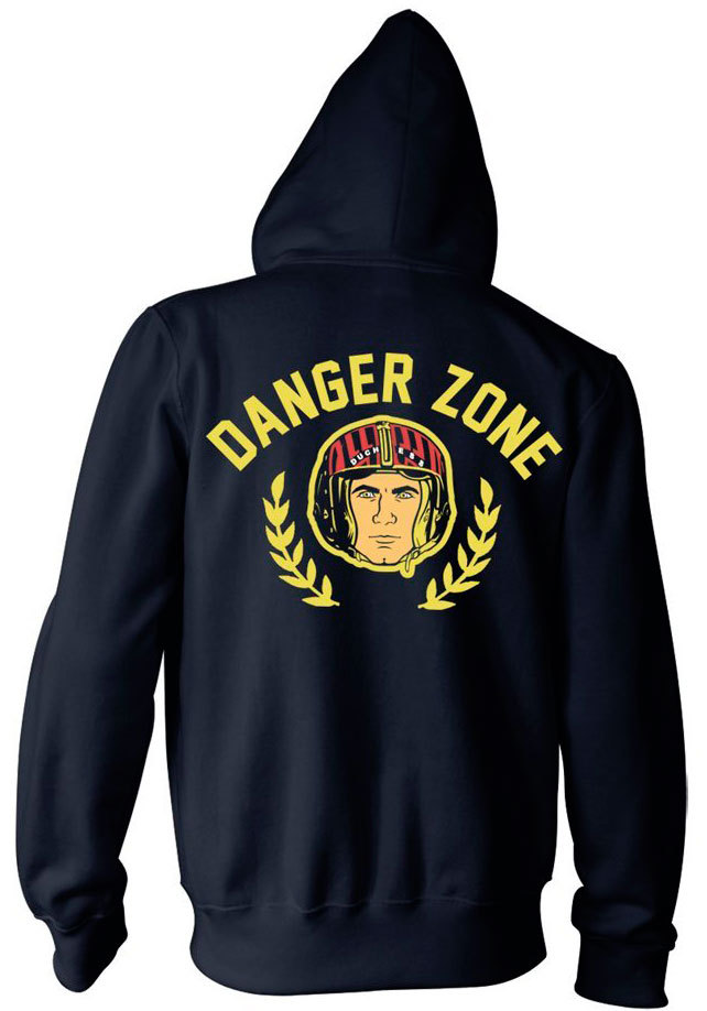 Archer Danger Zone Zip Up Hoodie Back