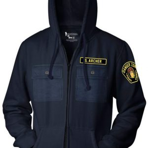 Archer Danger Zone Zip Up Hoodie Front