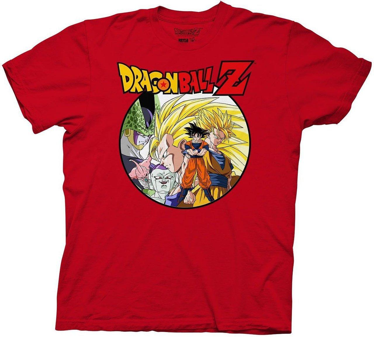 Dragon Ball Z Saiyan Group With Enemies T Shirt