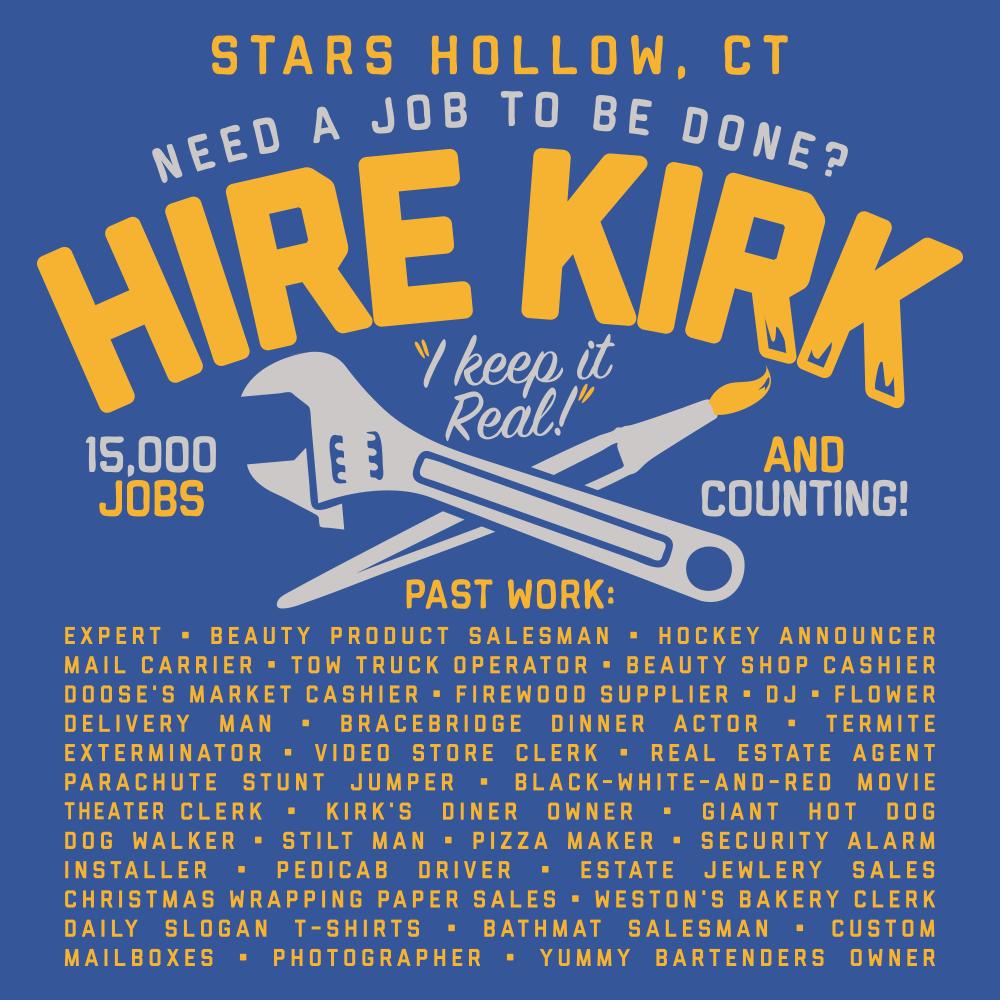 Gilmore Girls Hire Kirk T Shirt