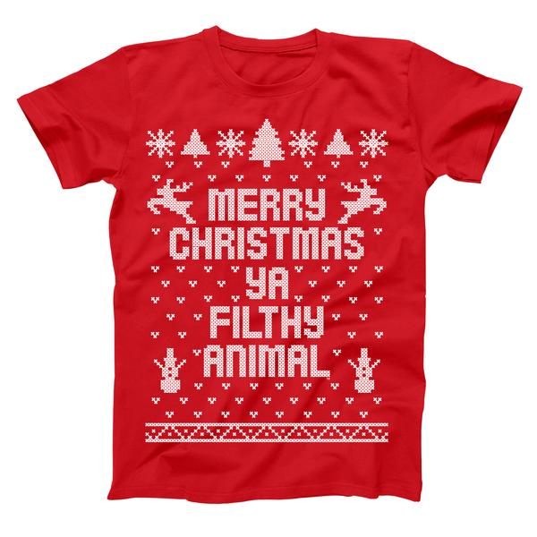 Merry Christmas Ya Filthy Animal Xmas T Shirt