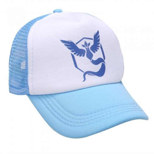 Pokemon GO Team Valor Mystic Instinct Snapback Baseball Hat Light Blue Mystic