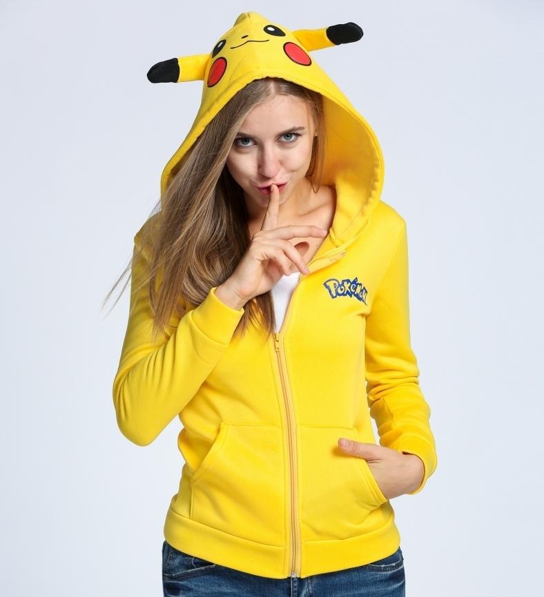 Pokemon Pikachu Ladies Zip Up Hoodie