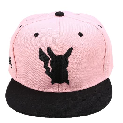 Pokemon Pikachu Silhouette Snapback Baseball Hat Pink