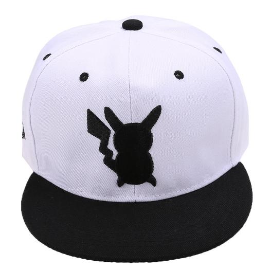 Pokemon Pikachu Silhouette Snapback Baseball Hat White