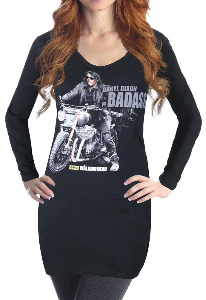 The Walking Dead Daryl Dixon Badass Long Sleeve Cover Up T shirt