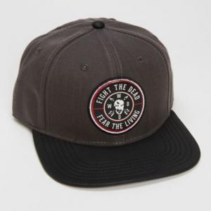 The Walking Dead Fight Dead Fear Living Snapback Hat Front