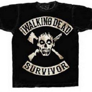 The Walking Dead Survivor Skull T Shirt