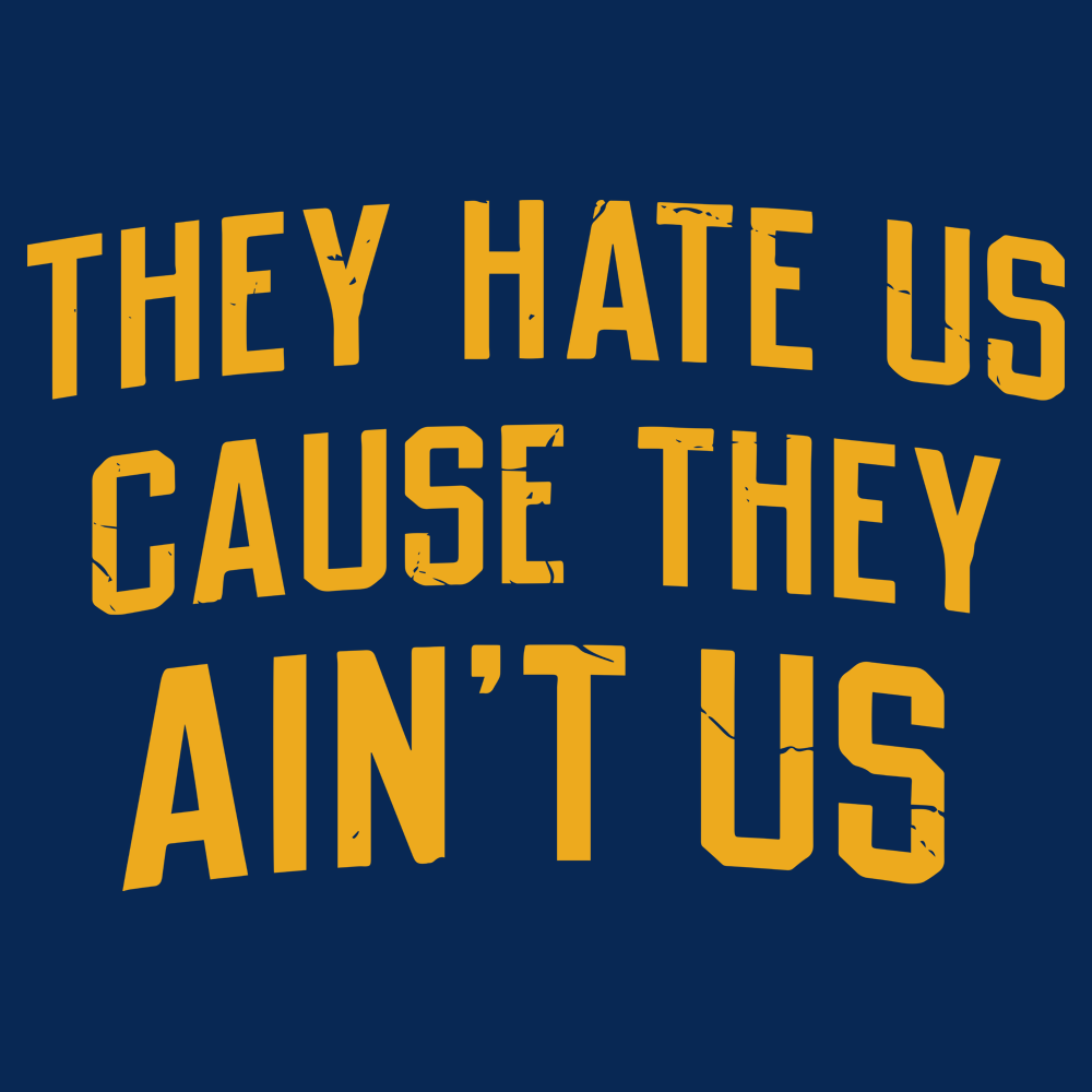 They Hate Us Cause They Aint Us Hoodie
