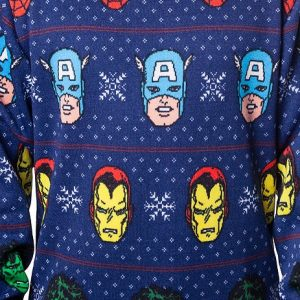 Avengers Sublimated Faux Christmas Sweater
