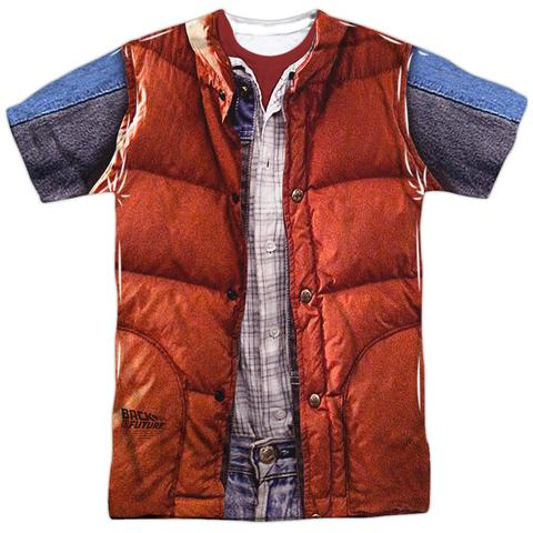 Back to the Future Marty Mcfly Vest Sublimation Polyester Shirt