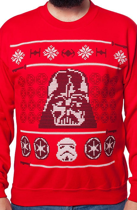 Darth Vader Faux Ugly Sweater