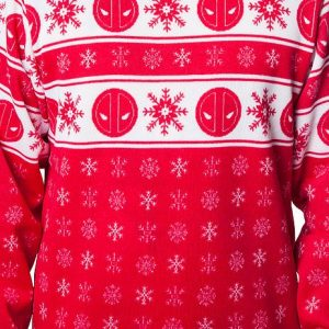 Deadpool Sublimated Faux Christmas Sweater