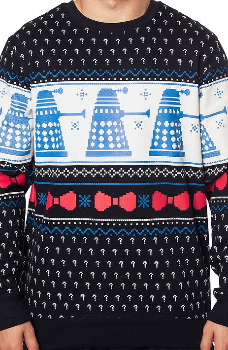 Doctor Who Dalek Faux Christmas Sweater