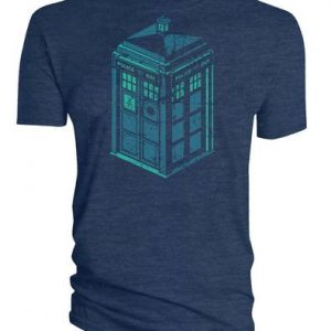 Doctor Who Green and Blue Art Tardis T Shirt