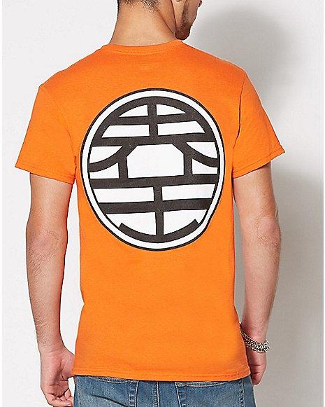 Dragon Ball Z Goku Symbol T Shirt Rear