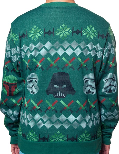 Galactic Empire Sublimated Faux Christmas Sweater Rear