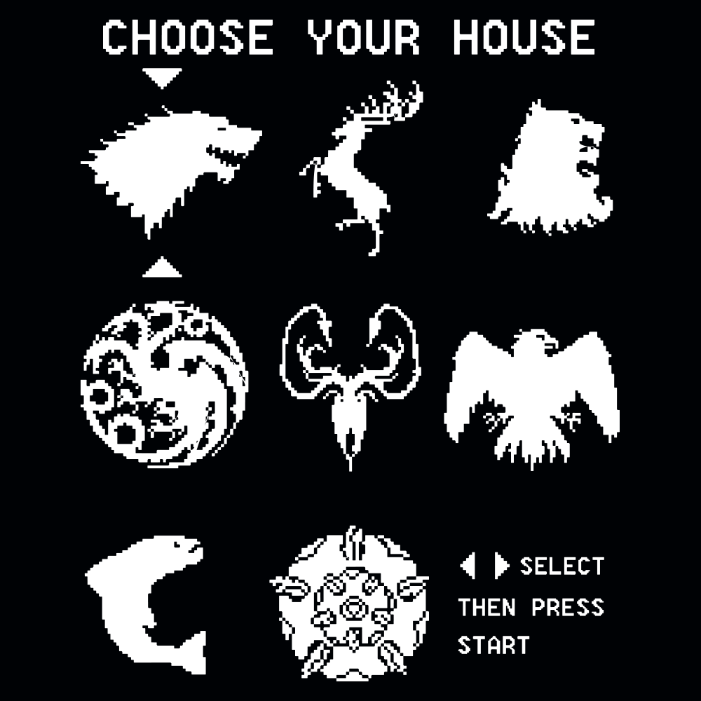 Game of Thrones Choose Your House T Shirt