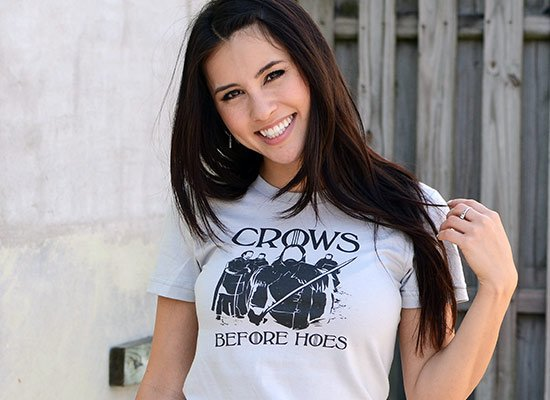 Game of Thrones Crows Before Hoes T Shirt Image3