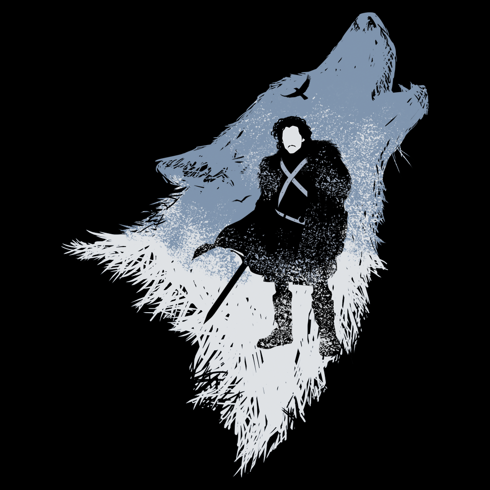 Game of Thrones Jon Snow the Wolf T Shirt