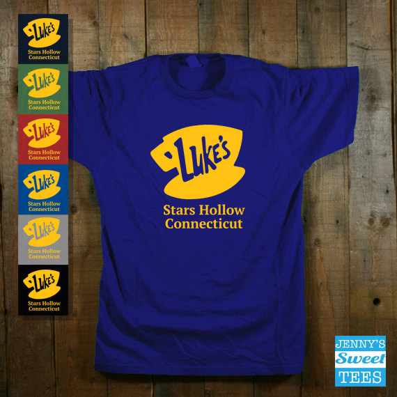 0dbeda7e Gilmore Girls Luke's Stars Hollow Connecticut T-Shirt - PopCult Wear