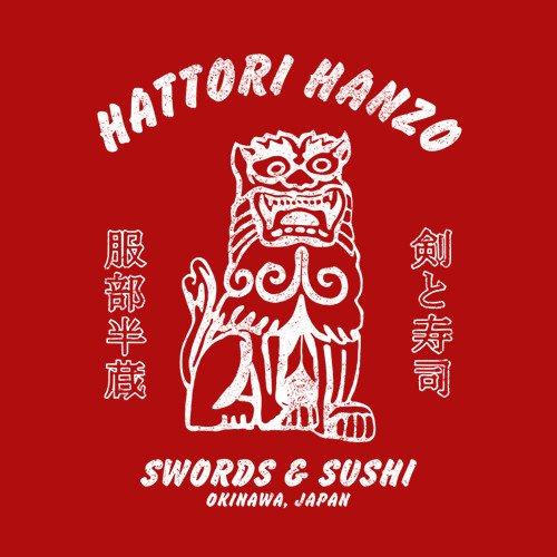 Hattori Hanzo Swords Sushi Kill Bill T Shirt