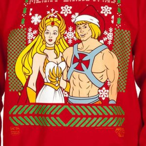 He Man She Ra Christmas Faux Sweater