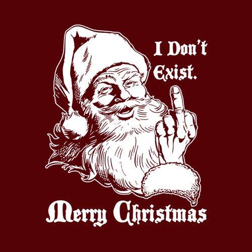 I Dont Exist Santa T Shirt