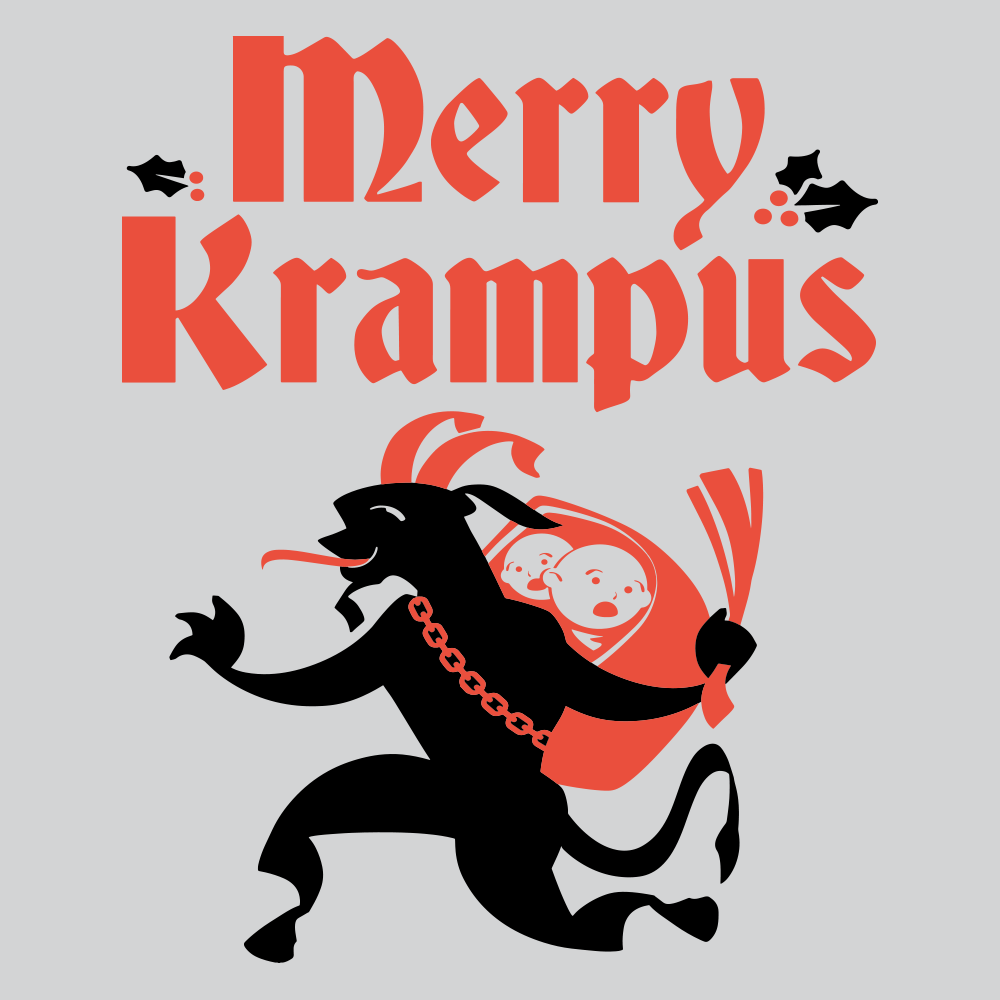 Merry Krampus T Shirt Variation 3