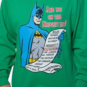 Naughty List Batman Faux Ugly Christmas Sweater
