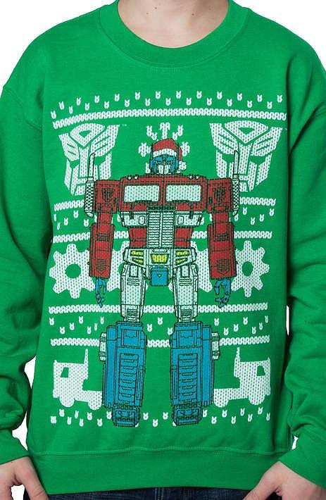 Optimus Prime Ugly Sweatshirt