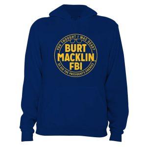 Parks and Recreation Burt Macklin FBI Hoodie