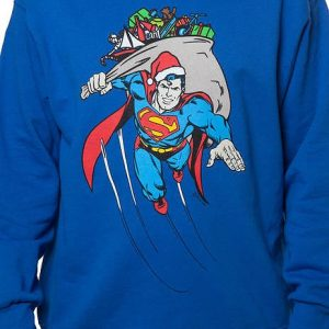 Santa Super Man Faux Ugly Sweater