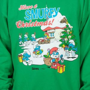 Smurfy Christmas Faux Ugly Sweater