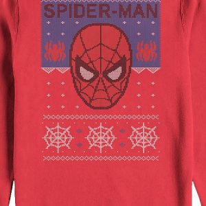 Spider Man Faux Ugly Christmas Sweater