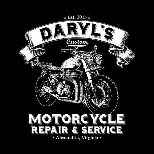 The Walking Dead Daryls Motorcycle Repair T Shirt