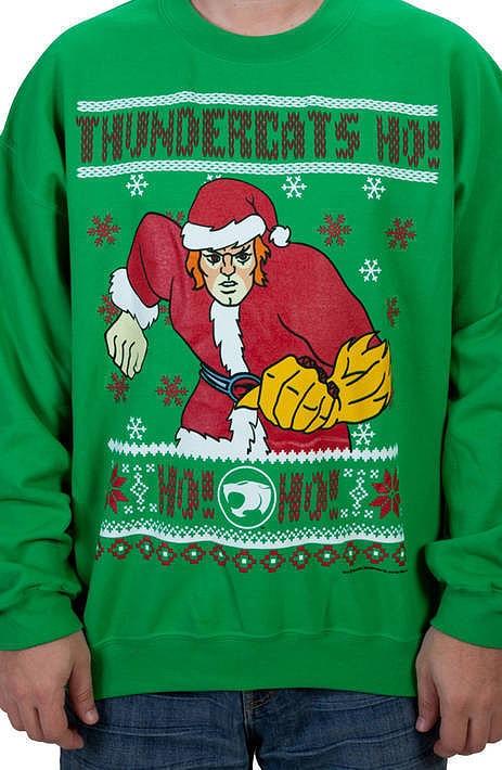 ThunderCats HO HO HO Faux Ugly Christmas Sweater