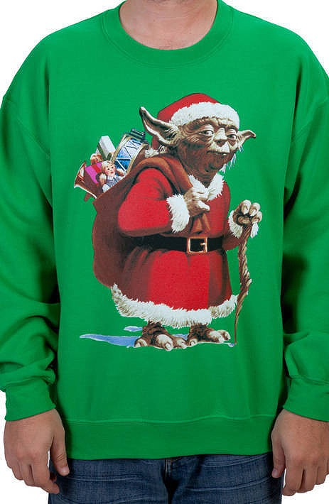 Yoda Santa Claus Ugly Faux Christmas Sweater